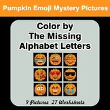 Color by The Missing Alphabet Letters - Halloween Pumpkin