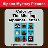 Color by The Missing Alphabet Letters - Hipsters Mystery Pictures