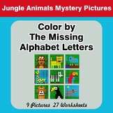 Color by The Missing Alphabet Letters - Jungle Animals Mys