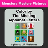 Color by The Missing Alphabet Letters - Monsters Mystery Pictures