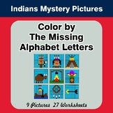 Color by The Missing Alphabet Letters - Native American In