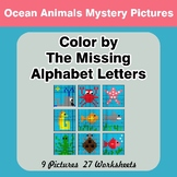 Color by The Missing Alphabet Letters - Ocean Animals Myst