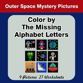 Color by The Missing Alphabet Letters - Outer Space Myster