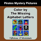 Color by The Missing Alphabet Letters - Pirates Mystery Pictures