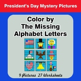 Color by The Missing Alphabet Letters - President's Day My
