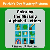 Color by The Missing Alphabet Letters - St. Patrick's Day