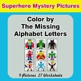 Color by The Missing Alphabet Letters - Superhero Mystery