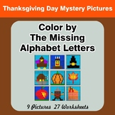 Color by The Missing Alphabet Letters - Thanksgiving Myste