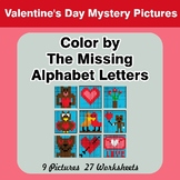 Color by The Missing Alphabet Letters - Valentine's Day My