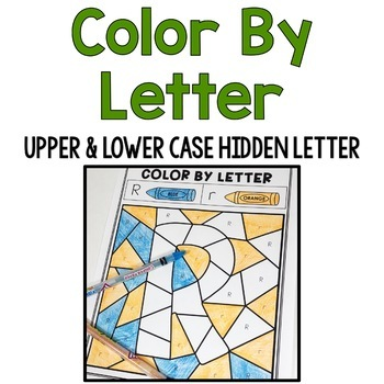 Color by Upper & Lowercase Letter: Hidden Letter