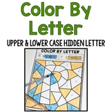 Color by Upper & Lowercase Letter: Hidden Letter