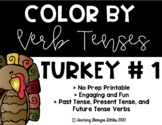Color by Verb Tense - Thanksgiving Edition