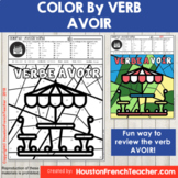 Color by Verbs French Avoir - Color by Conjugation - 1 Version