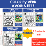 Color by Verbs French Avoir Etre - Color by Conjugation -