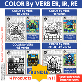Color by Verbs French ER IR RE Verbs - Color by Conjugatio