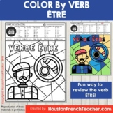 Color by Verbs French ETRE - Color by Conjugation - 1 Version
