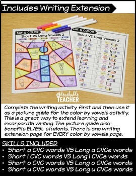 Color by Vowel Activity - Short VS Long Vowels