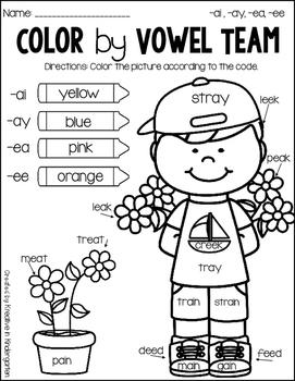 Color by Vowel Teams