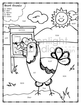vowel coloring pages - photo#37