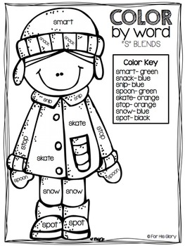 Color by Word {Winter Edition}