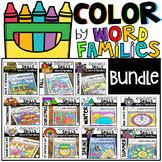 Color by Word Families Seasonal Bundle (Growing) Activities