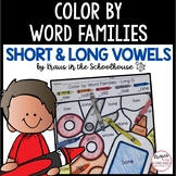 Color by Word Families Short Vowels and Long Vowels