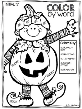 Color by Word {October Edition}