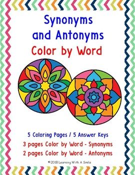 Color by Word - Synonyms and Antonyms