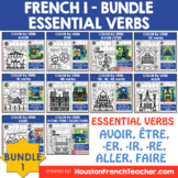 Color by code French Verbs Essentials - Color by Conjugati
