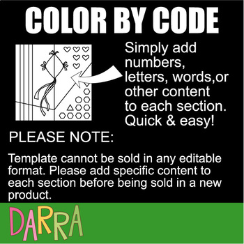 Color by code clip art: Beginning alphabet part 3 (K, L, M, N, O)
