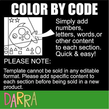 Color by code clipart: Beginning alphabet part 2 (E,F,G,H, I,J)