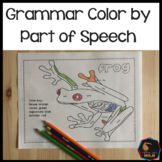 Grammar color by parts of speech activity #distancelearning