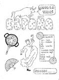 Spanish color by conjugation IR-verbs Spain fun worksheet