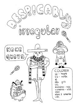 Color by conjugation SER Spanish Despicable Me no prep fun worksheet