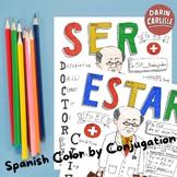 Color by conjugation Ser & Estar Doctor Clif Spanish verbs no prep practice
