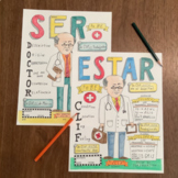 Color by conjugation Ser & Estar Doctor Clif Spanish verbs no prep practice