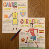 Color by conjugation  Spanish Sports Deportes Ganar Correr
