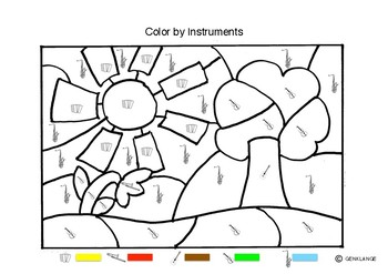 Color by music instruments