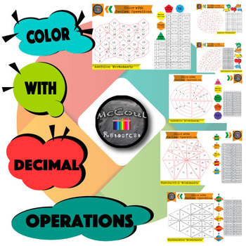 Color by number - Adding and Subtracting Decimals