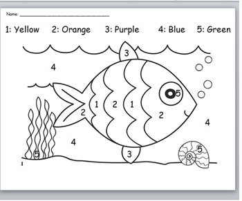Color by number-Fish
