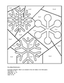 Color by number Snowflake multiplication