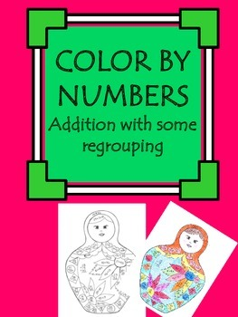 Color by numbers: addition practice (whole numebrs) Russia