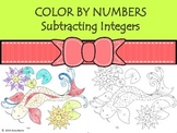 Integers Color by numbers: subtraction Koi Fish Japan