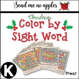 Color by sight word Christmas Primer sight words for Kindergarten