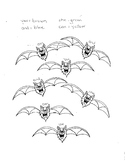 Color by sight words Halloween Bats