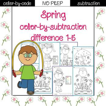 Spring color by code {subtraction}