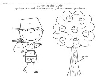 Color by the Code-Dolch Sight Word Practice #4