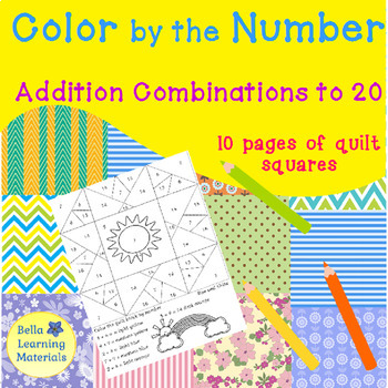 Coloring Quilts by the Number Addition to 20