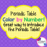 Periodic Table Color by Number Great for Review