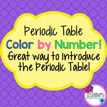 Periodic Table Color by Number. Great for Review!